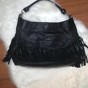 B. Makowsky Fringe Hobo Shoulder Handbag